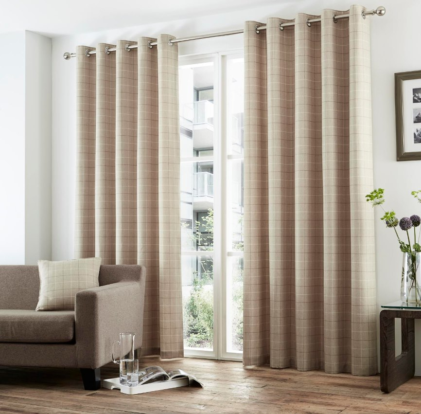 Double Rod Pocket Sheer Curtains Blinds for Bay Windows