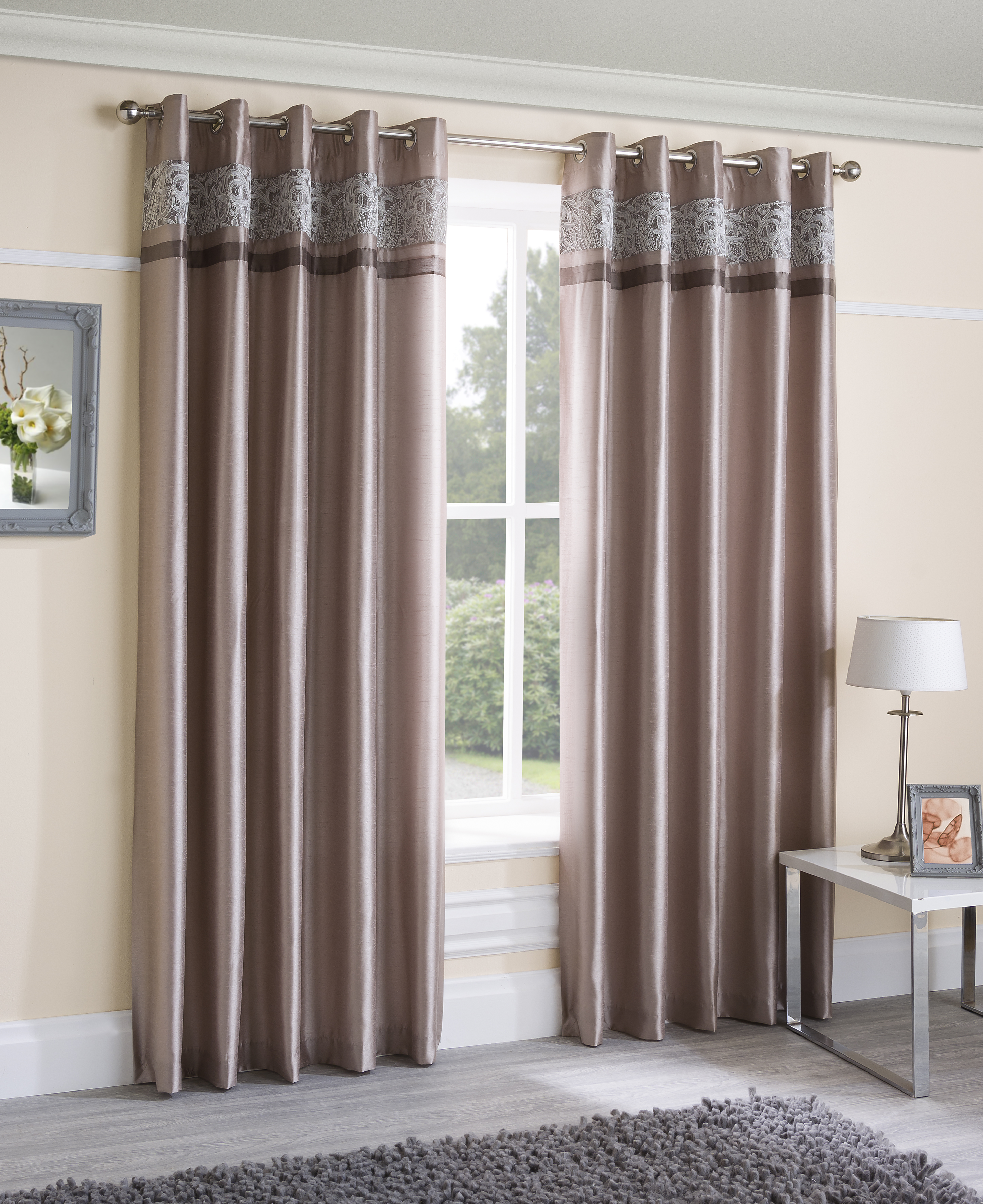 Fresh Curtains for Wide Windows